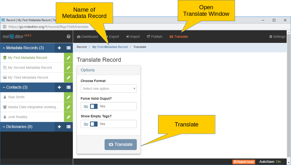 Translate Window